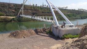 הקמת גשר נחל חדרה - א.ל. טרנס