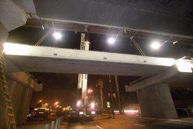 גשר מעל שדרות רוקח תל אביב - א.ל. טרנס